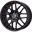 Диск Drag DR-34 Matte Black w/Red Stripe